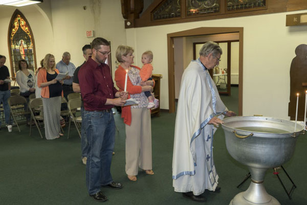 Scene from Baptism At St. Luke Chapel
