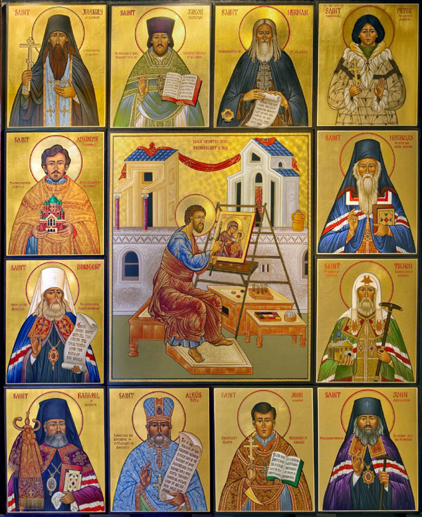 An icon of the Saints of America.