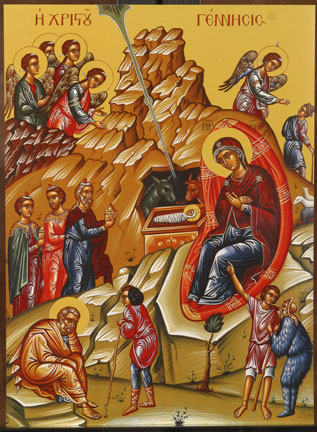 An icon of the Nativity of Christ.