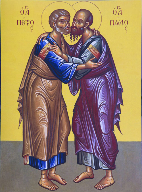 An icon of the Feast Of Saints Peter And Paul.