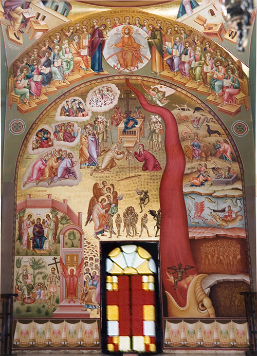 An icon of the Last Judgement.