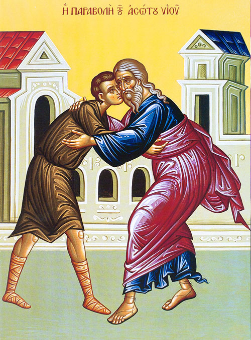 An icon of The Sunday of the Prodigal Son.