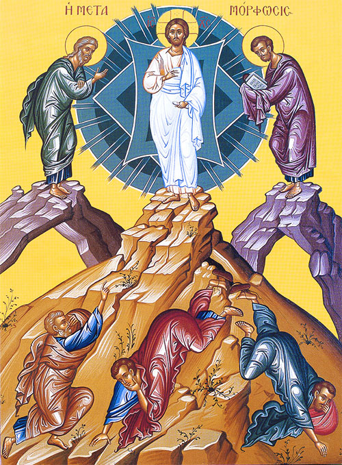 An icon of the Transfiguration of Christ.