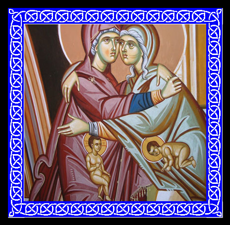 An icon of the the Visitation of Mary to Elizabeth.