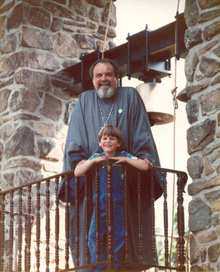 Fr. Vladimir and his grandson .